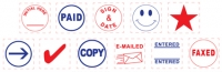 Square Stock Stamps 11 Different Designs Business Accessories