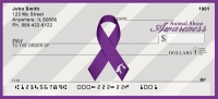Animal Abuse Awareness Ribbon Personal Checks