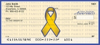 Down Syndrome Awareness Ribbon Personal Checks