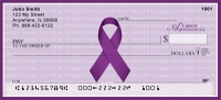 Cancer Awareness Ribbon Personal Checks
