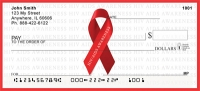 HIV/Aids Awareness Ribbon Personal Checks
