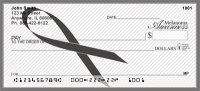 Melanoma Awareness Ribbon Personal Checks