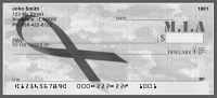 MIA Remembrance Ribbon  Personal Checks