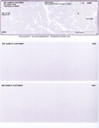 Violet Marble Laser Business One Per Page Voucher Checks - Top Style