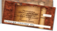 Patriotic Quote Side Tear Personal Checks