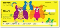 Colorful Owl Personal Checks