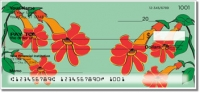 Hanging Flower Personal Checks