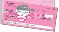 Girly Skull Side Tear Personal Checks
