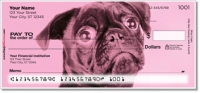 Colorful Pug Personal Checks
