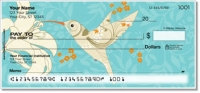 Floral Hummingbird Personal Checks