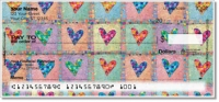 Patchwork Heart Personal Checks