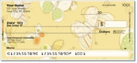 Sepia Butterflies Yellow Personal Checks