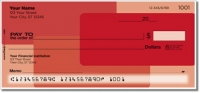 Red Rectangle Personal Checks