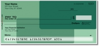 Green Rectangle Personal Checks