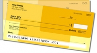Yellow Rectangle Side Tear Personal Checks