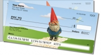 Garden Gnome Side Tear Personal Checks