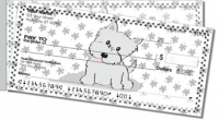 Cute Cat & Dog Side Tear Personal Checks