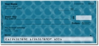 Blue Bubble Pattern Personal Checks