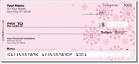 Pink Burst Personal Checks