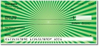 Green Starburst Personal Checks