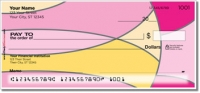 Hot Pink Curve Personal Checks