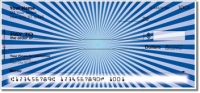 Blue Starburst Personal Checks