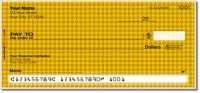 Yellow Houndstooth Personal Checks