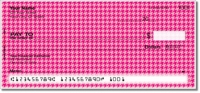 Pink Houndstooth Personal Checks