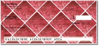 Red Marble Tile Personal Checks