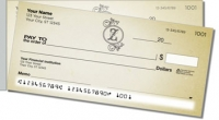 Z Monogram Side Tear Personal Checks
