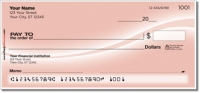 Pink Swoosh Personal Checks