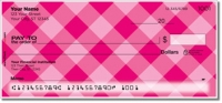 Pink Plaid Personal Checks
