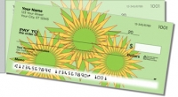 Retro Sunflower Side Tear Personal Checks