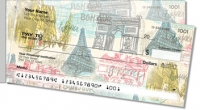 Paris Vacation Side Tear Personal Checks
