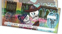 Day of the Dead Skull Side Tear Personal Checks