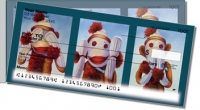 Sock Monkey Side Tear Personal Checks
