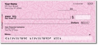 Pink Leaves Personal Checks