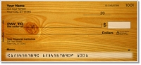 Wood Grain Personal Checks