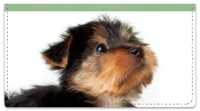 Yorkie Pup Checkbook Covers