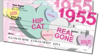 Candy Heart Side Tear Personal Checks
