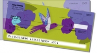 Colorful Hummingbird Side Tear Personal Checks