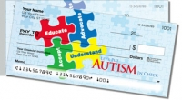 Autism Awareness Side Tear Personal Checks
