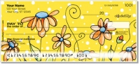 Orange Daisies Personal Checks