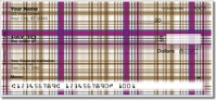 Plaid Pattern Personal Checks