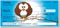 Cartoon Owl Personal Checks