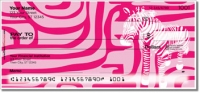 Neon Animal Print Personal Checks