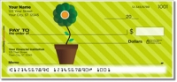 Potted Flower Personal Checks