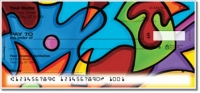 Pop Abstract Personal Checks
