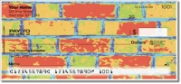 Colored Brick Personal Checks
