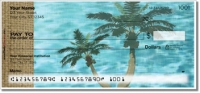 Peaceful Palm Tree Personal Checks